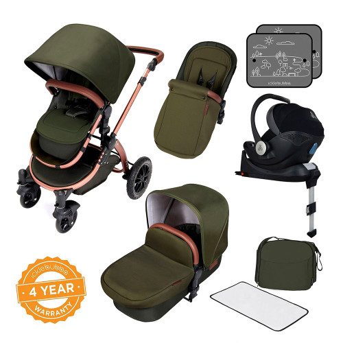 Ickle Bubba Stomp V4 Special Edition Travel System - Woodland/Bronze