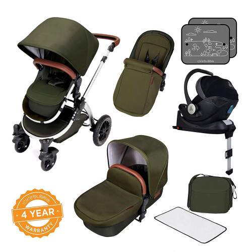 Ickle Bubba Stomp V4 All-in-One Mercury Travel System - Woodland/Chrome