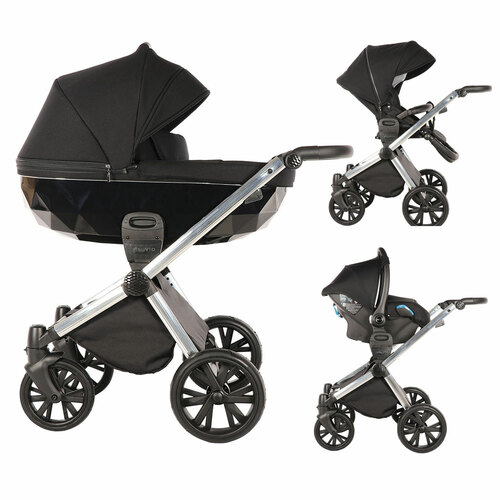 Insevio 3-in-1 Luxury Travel System - Black