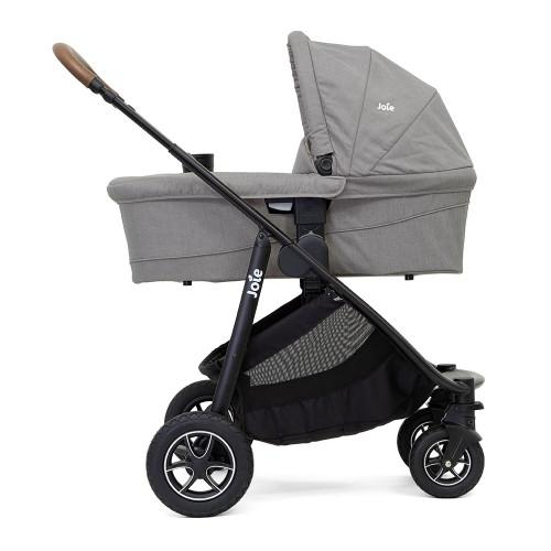 Joie Versatrax + Ramble XL Carrycot - Grey Flannel - carrycot mode