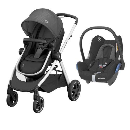 Maxi Cosi Zelia 2 + Cabriofix Car Seat - Essential Black