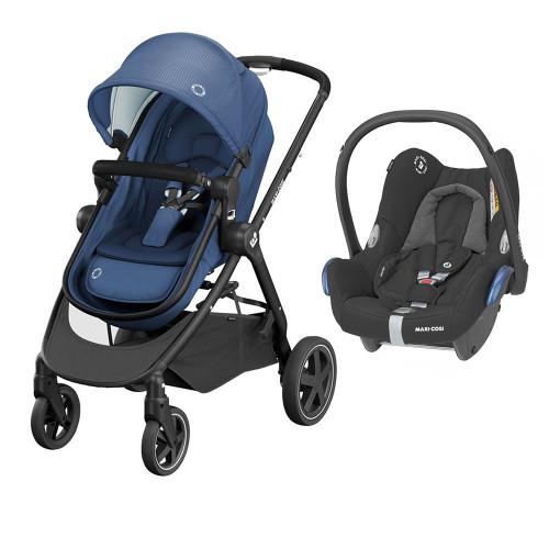 Maxi Cosi Zelia 2 + FREE Cabriofix Car Seat - Essential Blue