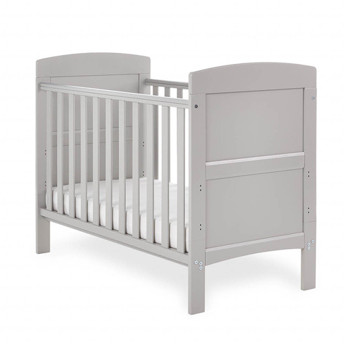 Obaby Grace Mini Cot Bed + Mattress - Taupe Grey