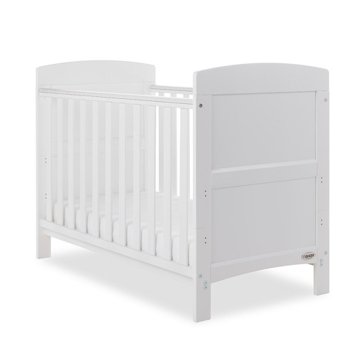 Obaby Grace Mini Cot Bed + Mattress - White