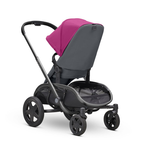 Quinny Hubb XXL Shopping Stroller - Pink on Graphite