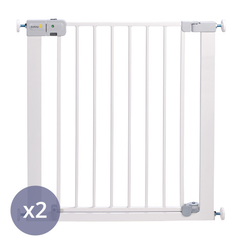 Safety 1st SecurTech® Auto Close Metal Gate - White x 2