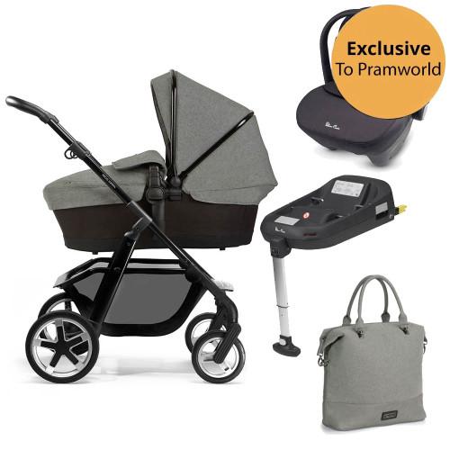 Silver Cross Pioneer Special Edition + Simplicity & Isofix Base - Eton Grey