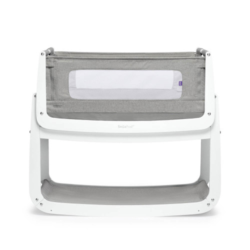SnuzPod 4 Bedside Crib with Mattress - Dusk Grey