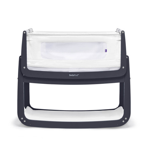 SnuzPod 4 Bedside Crib with Mattress - Navy