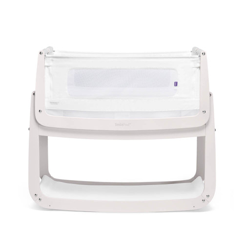 SnuzPod 4 Bedside Crib with Mattress - Rose White