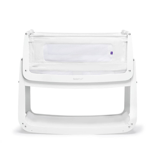 SnuzPod 4 Bedside Crib with Mattress - White
