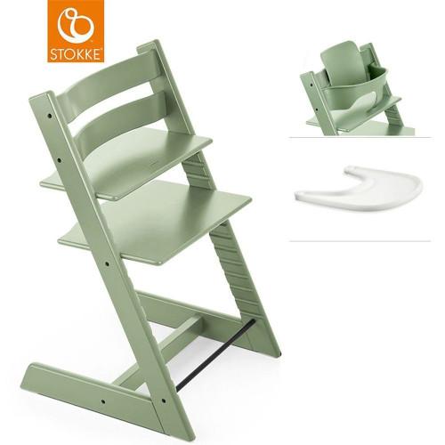 Stokke® Tripp Trapp® + Baby Set & FREE Tray - Moss Green