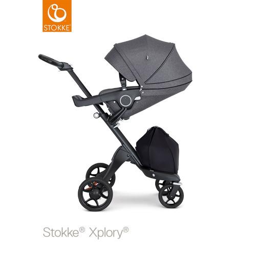 Stokke® Xplory® V6 Stroller Black Melange - lie flat