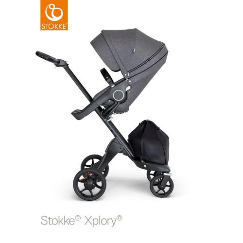 Stokke® Xplory® V6 Complete Black Melange - Choose Your Chassis (pushchair black black)