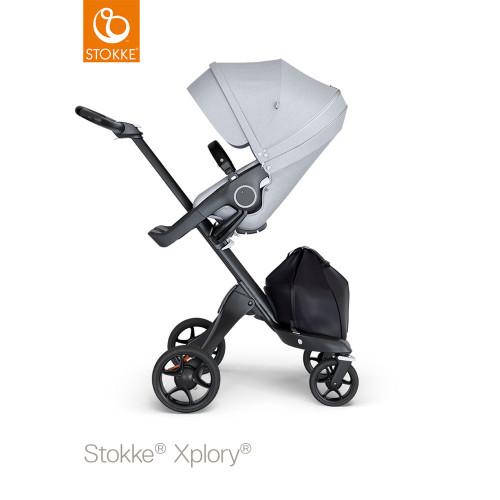 Stokke® Xplory® V6 Complete Grey Melange - Choose Your Chassis (pushchair black black)