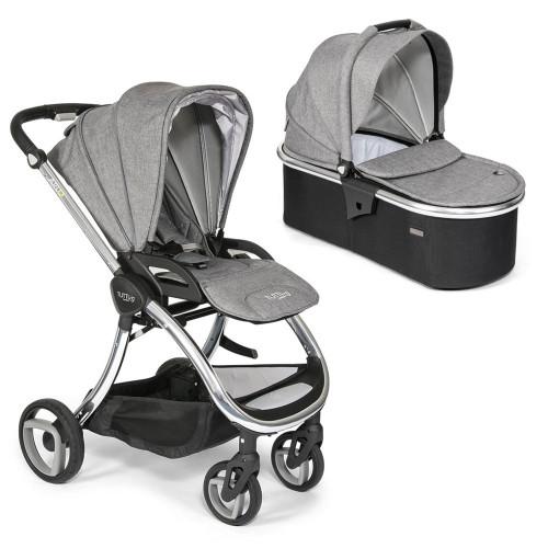 Tutti Bambini Arlo Pushchair + Carrycot - Chrome / Charcoal