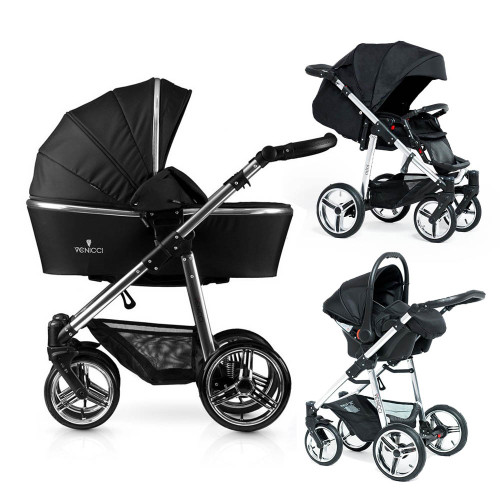 Venicci Silver Special Edition Travel System - Black