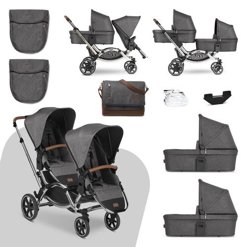 ABC Design Zoom Pushchair & Carrycot Bundle - Asphalt