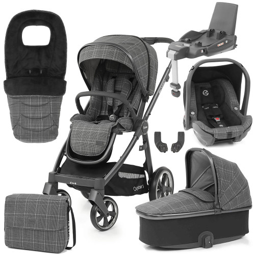 Babystyle Oyster 3 Luxury 7-Piece Bundle - City Grey Chassis/Manhattan