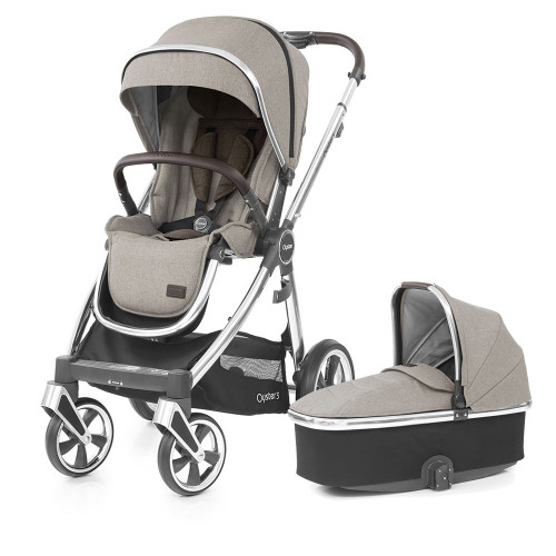 Babystyle Oyster 3 Pushchair + Carrycot - Mirror Chassis/Pebble