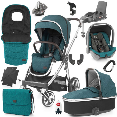 Babystyle Oyster 3 Ultimate 12-Piece Bundle - Mirror Chassis/Peacock