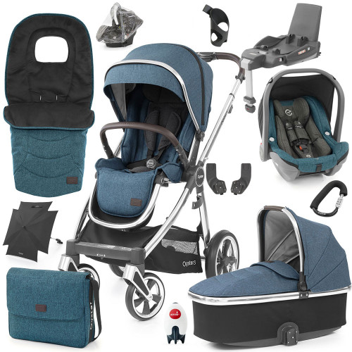 Babystyle Oyster 3 Ultimate 12-Piece Bundle - Mirror Chassis/Regatta