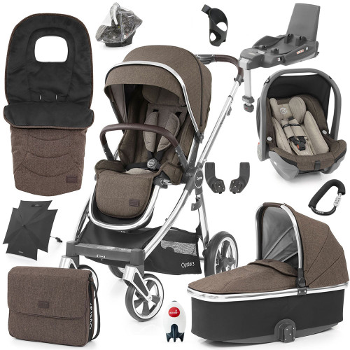 Babystyle Oyster 3 Ultimate 12-Piece Bundle - Mirror Chassis/Truffle