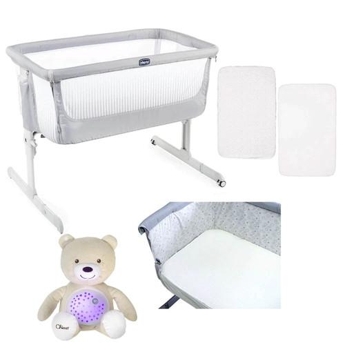 Chicco Next 2 Me Air Side-Sleeping Crib + FREE Accessories - Stone