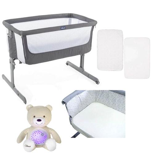 Chicco Next 2 Me Air Side-Sleeping Crib + FREE Accessories - Dark Grey