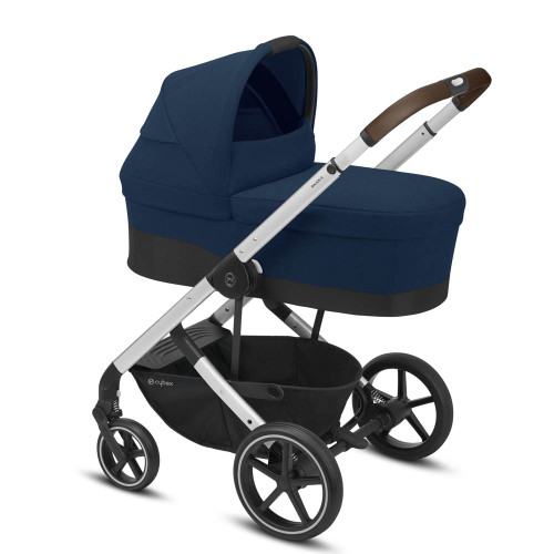 Cybex Balios S Lux Silver Travel System - Navy Blue