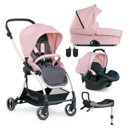 Hauck Eagle 4S Shop 'N Drive Travel System - Pink/Grey