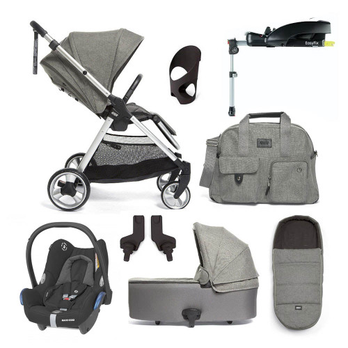 Mamas & Papas Flip XT 2 8-Piece Cabriofix Bundle inc Accessories - Grey Melange