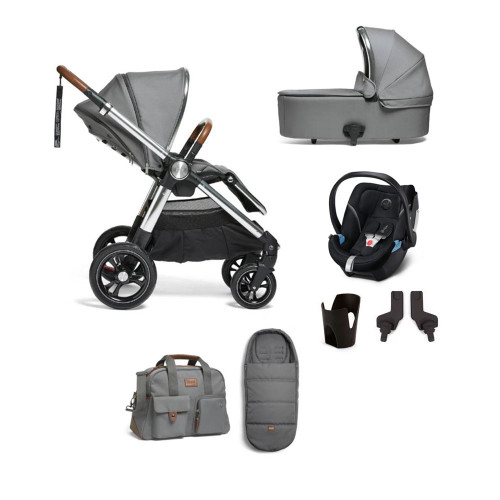 Mamas & Papas Ocarro 7-Piece Aton 5 Bundle - Fossil Grey