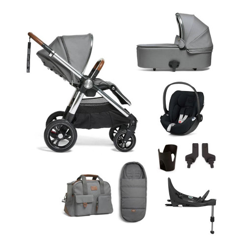 Mamas & Papas Ocarro 8-Piece Cloud Z Bundle - Fossil Grey
