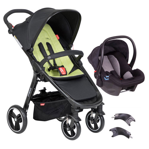 Phil & Teds Smart 3 in 1 Travel System - Apple