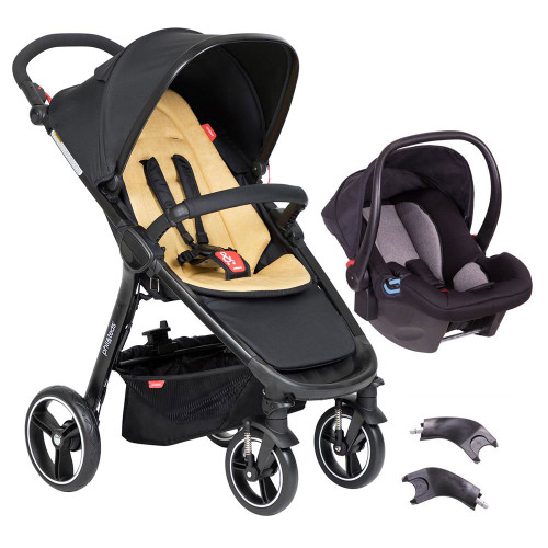 Phil & Teds Smart 3 in 1 Travel System - Butterscotch