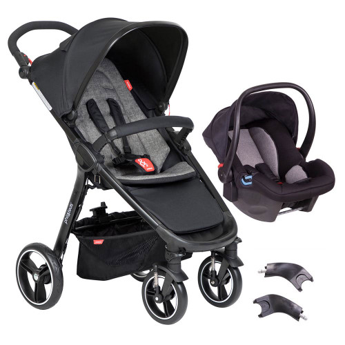 Phil & Teds Smart 3 in 1 Travel System - Charcoal