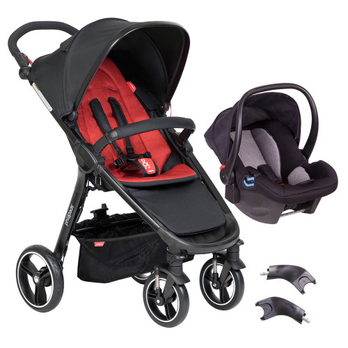 Phil & Teds Smart 3 in 1 Travel System - Chilli