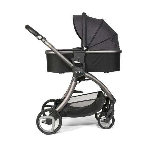 Tutti Bambini Arlo Pushchair + Carrycot - Charcoal / Liquorice