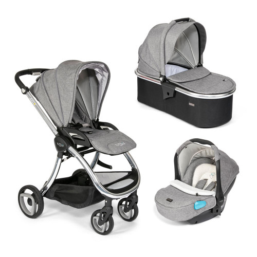 Tutti Bambini Arlo Travel System - Chrome / Charcoal