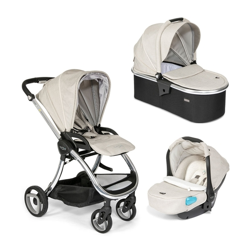 Tutti Bambini Arlo Travel System - Chrome / Oatmeal