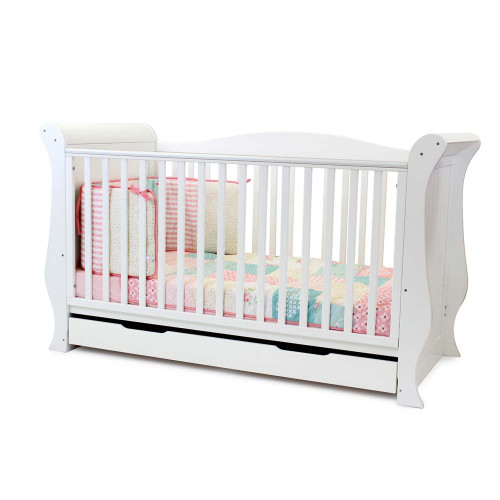 Babystyle Hollie Sleigh Bed - White - angle