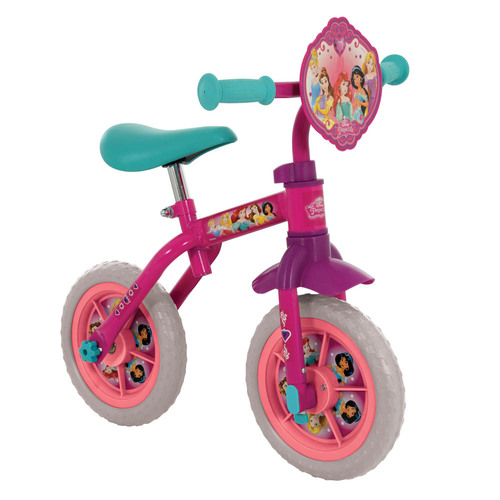 "MV Sports Disney Princess 2-in-1 10"" Training Bike"