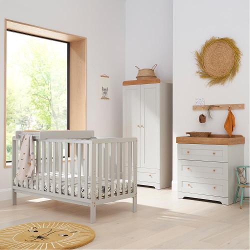 Tutti Bambini Malmo 3 Piece Room Set - Dove Grey / Oak