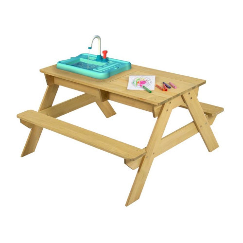 TP Toys Picnic Bench with Pump & Play Working Tap