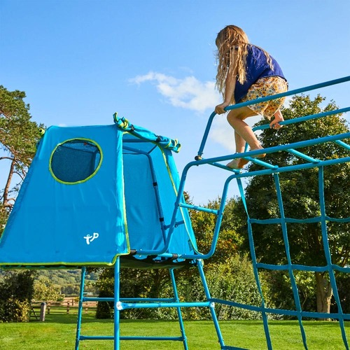 TP Toys Explorer Climbing Frame, Den & Monkey Run - Blue