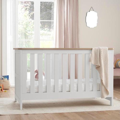Tutti Bambini Verona Cot Bed - White/Oak
