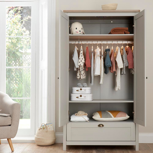 Tutti Bambini Verona Wardrobe - Dove Grey/Oak