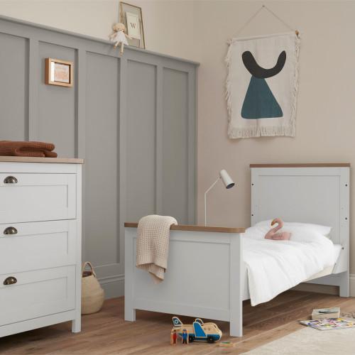 Tutti Bambini Verona 2 Piece Room Set - White/Oak