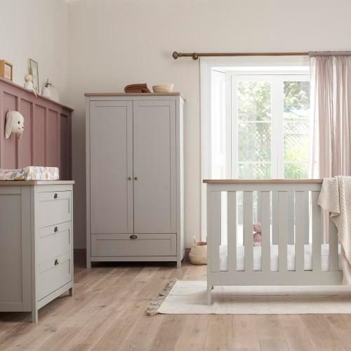 Tutti Bambini Verona 3 Piece Room Set - Dove Grey/Oak